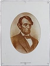 Porcelain Portrait of Abraham Lincoln