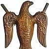 Zinc Embossed Eagle Parade Torch