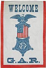 Welcome G.A.R. Linen Banner