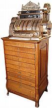 National Floor Model Cash Register Model 592-6-F