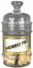 Label Under Glass Apothecary Jar