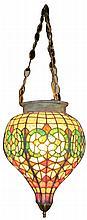 Leaded Glass Tea Drop Apothecary Globe