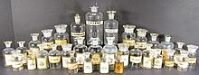 Collection of Apothecary Paper Label Bottles