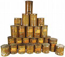 Collection of Bulk Botanical Drug Tins