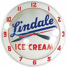 Lindale Ice Cream Double Bubble Light Up Clock
