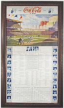 Rare 1939 Baseball Coca Cola Rare Statistic Poster