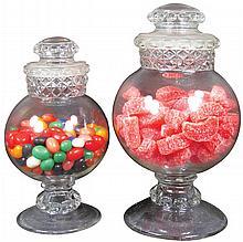 Pair of Dakota Globe Style Candy Jars