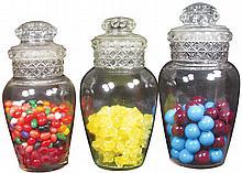 Three Dakota Urn Style Candy Jars