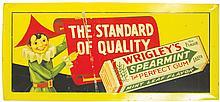 Wrigley's Self Framed Tin Over Cardboard Sign