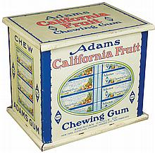 Adams California Fruit Gum Tin Store Display