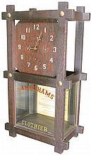 Advertising Clock and Garter Cabinet