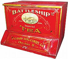 Battleship Imperial Tea Tin Country Store Bin