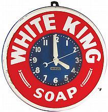 White King Soap Light Up Neon Advertising Clock