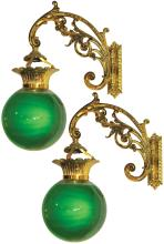 Pair of Apothecary Hanging Show Globes