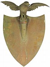 Cast Iron Shield Plaque with Eagle Finial