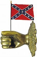 Brass Figural Wall Mount Flag Holder