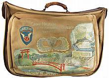 Vintage Naval Military Canvas Bag