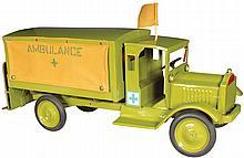 Keystone Ambulance Pressed Steel Toy Truck