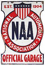National Automobile Association Porcelain Sign