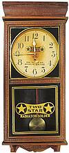 Two Star Radiator Solder Advertising Clock