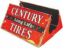Century Long Life Tires Tin Store Display