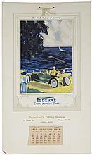 1923 Calendar for Federal Extra Service Tires