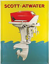 Rare Scott-Atwater Outboard Motors Steel Sign