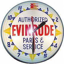 Evinrude Advertising Light Up Clock
