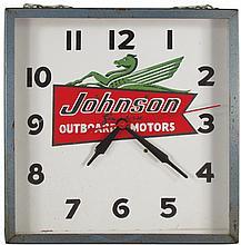 Johnson Seahorse Outboard Advertising Clock
