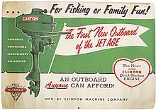 Clinton Boat Motors Hard Paper Banner