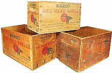 Three Montgomery Ward & Co. Shell Box Crates