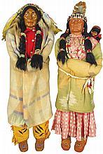 Pair of Skookum Native American Dolls