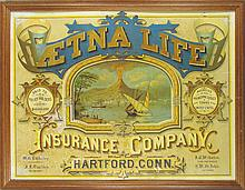 Aetna Life Insurance Company Tin Sign