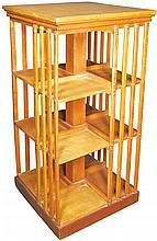 Mission Style Revolving Oak Bookcase