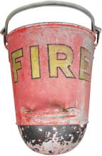 Fire Bucket with Rounded Bottom
