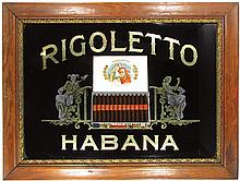 Rigoletto Habana Cigars Reverse Glass Sign