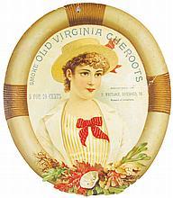 Old Virginia Cheroots Die Cut Cardboard Sign