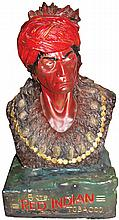 Red Indian Tobacco Chalkware Store Figure