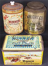Collection of Three Winner Tobacco Tins