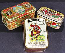 Collection of Three Tobacco Tins