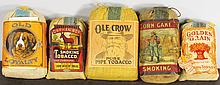 Five Smoking Tobacco Pouches
