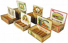 Collection of Six Cigar Boxes
