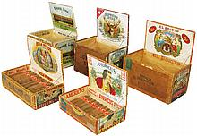 Collection of Five Cigar Boxes