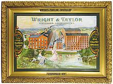 Wright & Taylor Whiskey Tin Sign