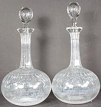 Pair of Matching Fancy Liquor Decanters