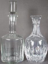 Two Fancy Glass Liquor Decanters