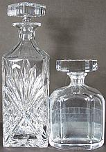 Two FancyGlass Liquor Decanters