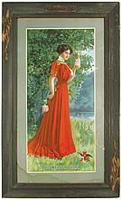 1907 Anheuser-Busch Paper Sign