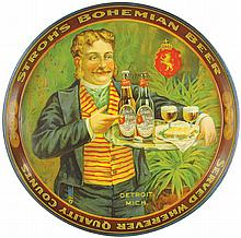 Stroh's Bohemian Beer Tin Serving Tray