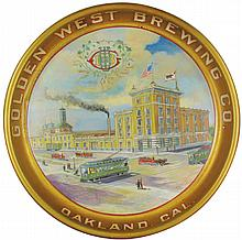 Golden West Brewing Co. Tin Serving Tray